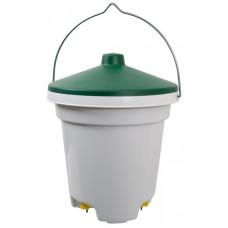12 Litrų nipelinė girdykla - kibiras paukščiams