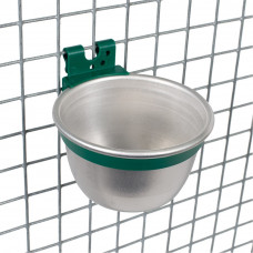 Aluminum feeding / drinking bowl ø 100mm