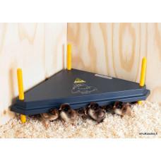 Šildymo plokštė viščiukams trikampė  Comfort  40x40cm su reguliatoriumi